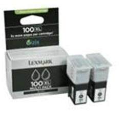 Lexmark 2PK 100XL Black High YLD Return Program Ink Carts