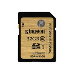 Kingston Ultimate - Flash memory card - 32 GB - UHS Class 1 / Class10 - 233x - SDHC