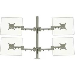 "ErgoMounts Desk Mount For 23"" Screens - Silver"