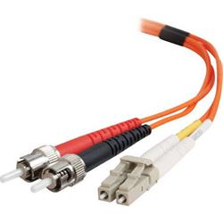 C2G 1m ST-ST 50/125 OM2 Duplex Multimode PVC Fibre Optic Cable (LSZH) - Orange