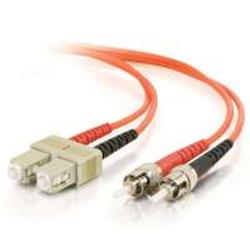 C2G 7m ST-ST 50/125 OM2 Duplex Multimode PVC Fibre Optic Cable (LSZH) - Orange