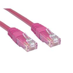 Cables Direct 1m CAT 6 UTP PVC Injected Moulded Cable - Pink B/Q 250