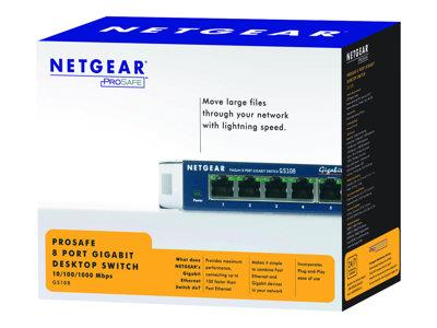 NETGEAR 8-Port 10/100/1000 Mbps Switch