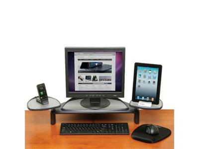 Kensington Monitor Stand with Adjustable Shelves - Graphite