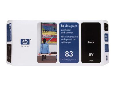 HP 83 Black UV Printhead and Printhead Cleaner