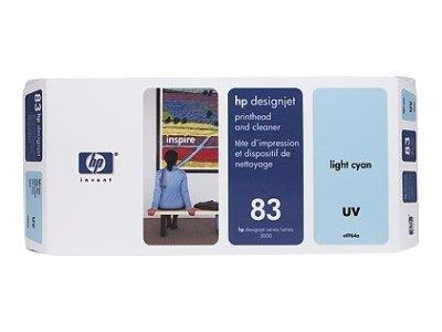 HP 83 Light Cyan UV Printhead and Printhead Cleaner