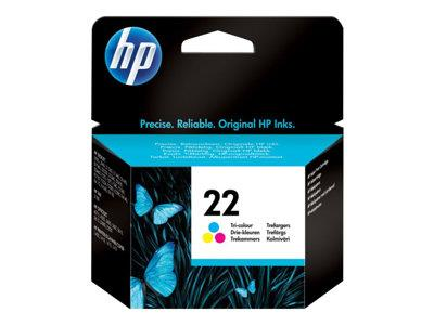 HP 22 Tri-colour Original Ink Cartridge