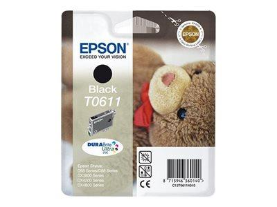 Epson T0611 - Print cartridge - 1 x pigmented black