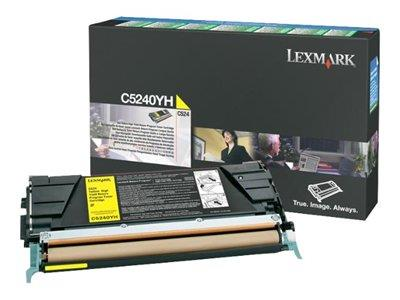 Lexmark C524 5K Yellow HY return prog cart