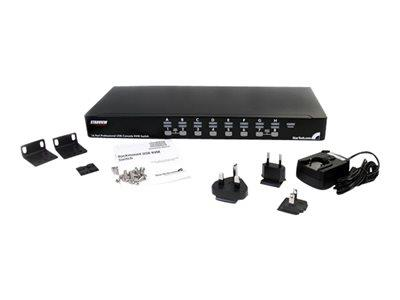 StarTech.com 16 Port 1U Rackmount USB PS/2 KVM Switch with OSD