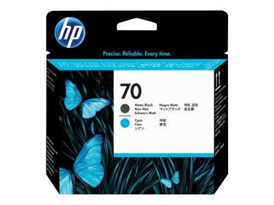 HP No 70 Matte Black and Yellow Printhead