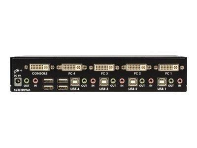 StarTech.com 4 Port DVI USB KVM Switch with Audio & USB Hub