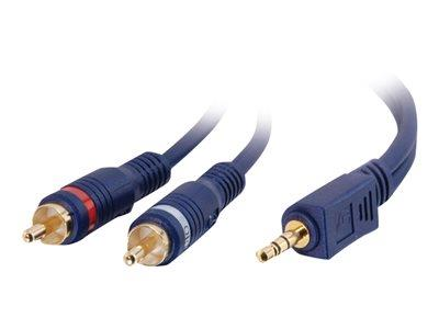 C2G 3m Velocity™ One 3.5mm Stereo Male to Two RCA Male Y-Cable