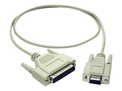 C2G 1m DB9 Female to DB25 Male Modem Cable