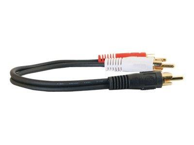 C2G .15m Value Series™ One RCA Mono Male to Two RCA Stereo Male Y-Cable
