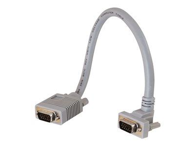 C2G 3m Premium Shielded HD15 SXGA M/M Monitor Cable with 90° Up Angled Male Connector