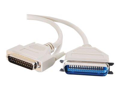 C2G 3m DB25 Male to Centronics 36 Male Parallel Printer Cable