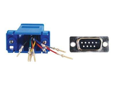 C2G RJ45 to DB9 Male Modular Adapter - Blue