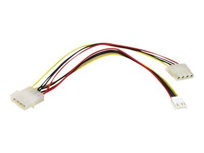 C2G 25cm One 5-1/4in to One 3-1/2in with One 5-1/4in Internal Power Y-Cable