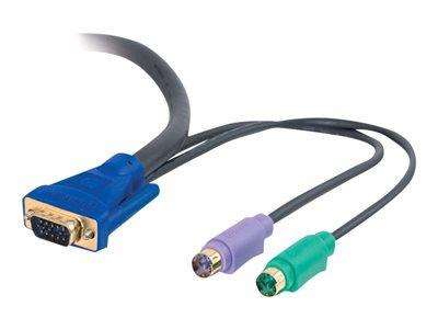 C2G 2m Ultima™ 3-in-1 Universal KVM HD15 VGA M/M Cable