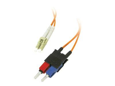 C2G 10m LC/SC LSZH Duplex 62.5/125 Multimode Fibre Patch Cable - Orange