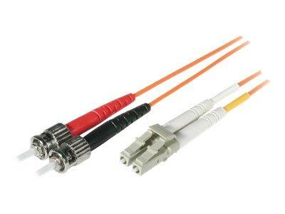 C2G 5m LC/ST LSZH Duplex 62.5/125 Multimode Fibre Patch Cable - Orange