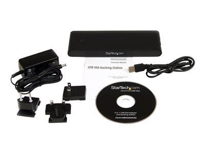 StarTech.com Universal Laptop USB Docking Station with VGA Audio Ethernet