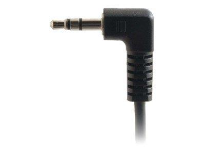 C2G CablesToGo 2m Value Series 3.5mm Right-Angled Stereo Audio Cable