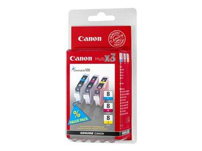 Canon CLI-8 Colour (Yellow/Cyan/Magenta) Multipack Ink Tank