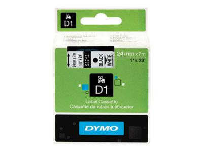 DYMO D1 - Glossy tape - black on white - Roll (2.4 cm x 7 m) - 1 roll(s)