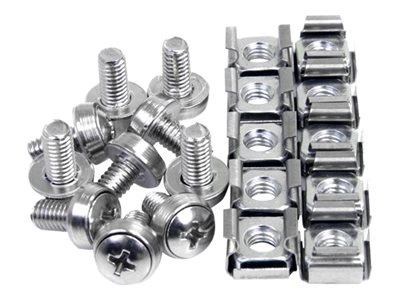 StarTech.com 100 Pkg M6 Mounting Screws and Cage Nuts for Server Rack Cabinet