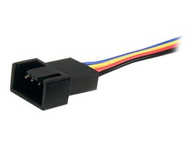 StarTech.com 12in 4 Pin Fan Power Splitter Cable - F/M