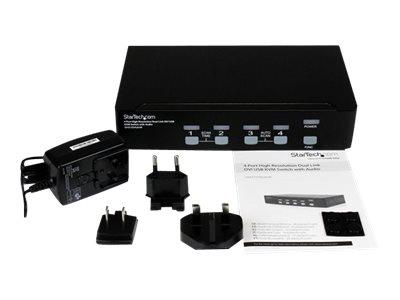 StarTech.com 4 Port High Resolution USB DVI Dual Link KVM Switch with Audio