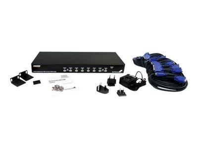 StarTech.com 8 Port 1U Rackmount USB KVM Switch Kit with OSD and Cables