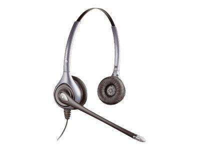 Plantronics HW361N/A SupraPlus Binaural Noise-Cancelling Corded Headset - Silver