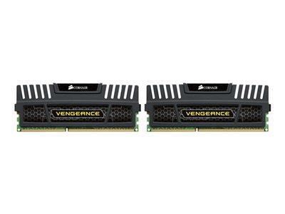 Corsair 16GB (2x8GB) DDR3 1600Mhz CL10 Vengeance Black Performance Desktop Memory Kit