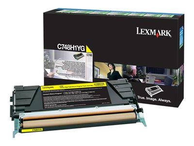 Lexmark C748 Yellow High Yield Return Program Toner