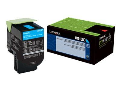 Lexmark 802SC Cyan Stand Return Program Toner 2K