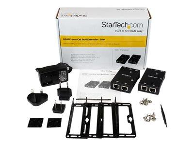 StarTech.com HDMI Over CAT5/CAT6 Extender with Power Over Cable - 165 ft (50m)