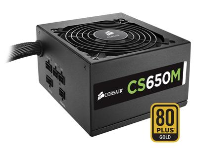 Corsair 650W CS650M CSM Semi-Modular 80+ GOLD Certified Power Supply