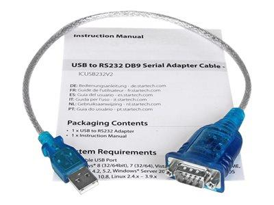 StarTech.com USB to RS232 Serial Adapter