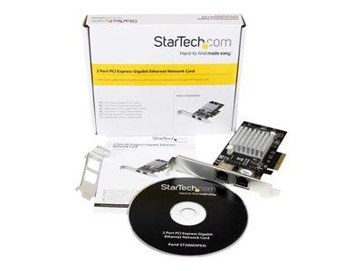 StarTech.com Dual Port PCI Express (PCIe x4) Gigabit Ethernet Server Network Card - Intel i350 NIC