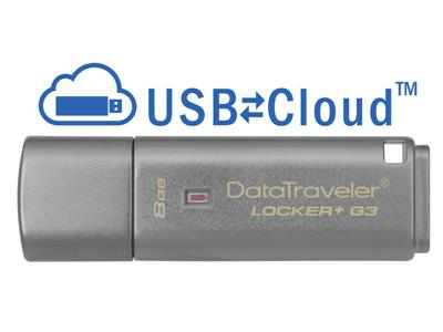 Kingston 8GB DataTraveler Locker+ G3 USB3 Flash Drive GDPR Compliant