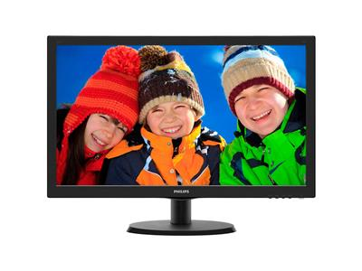 "Philips 21.5"" 1920x1080 5ms VGA DVI-D Black Monitor"