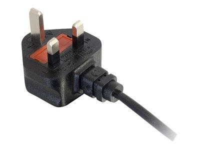C2G 2m UK Non-Polarised Power Cord (BS 1363 to IEC 60320 C7)