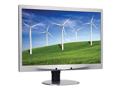 "Philips 24"" LED 1920x1200 Monitor Silver 16:10 1000:1 Built in 2 x 1"