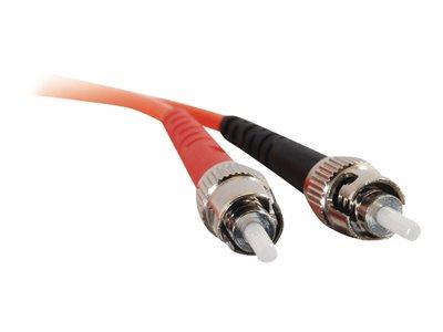 C2G 30m ST-ST 62.5/125 OM1 Duplex Multimode PVC Fibre Optic Cable (LSZH) - Orange