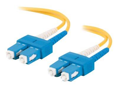 C2G 1m SC-SC 9/125 OS1 Duplex Singlemode PVC Fibre Optic Cable (LSZH) - Yellow