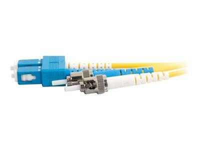 C2G 20m SC-ST 9/125 OS1 Duplex Singlemode PVC Fibre Optic Cable (LSZH) - Yellow