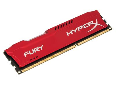HyperX FURY Red 8GB DDR3 1600MHz CL10 DIMM Memory